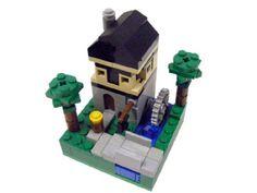 Microscale Blacksmith House: A LEGO® creation by Casey McCoy : MOCpages.com