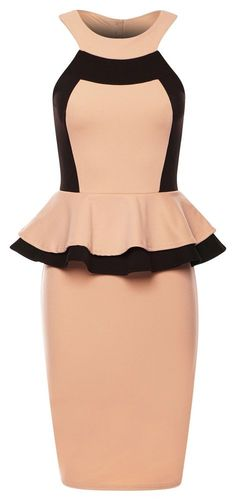 SEXY PARTY BEIGE COCKTAIL SILVESTER ABENDKLEID DAMEN STRETCH ENG S M L 36 38 40