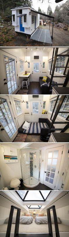 A beautiful 192 sq ft tiny house in Utah, built as an income property