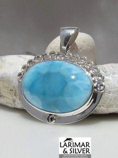 Larimar AAA pendant - Queen of the Seven Seas - by LarimarAndSilver, $145.00