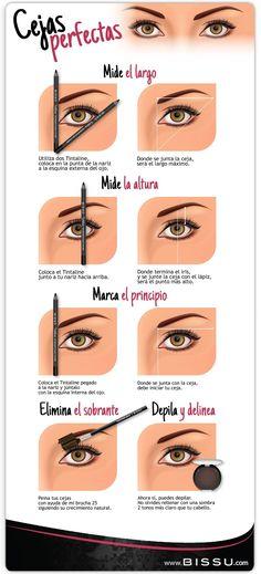 Cejas perfectas con Bissú … #maquillarcejas