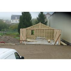 Garage Double En Sapin Autoclave Et Bûcher Latéral