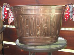 Georgia Beverage Bucket by TheQuirkyCork on Etsy, $38.00