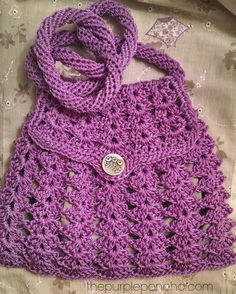Lavendar cross body bag lined with silver fabric