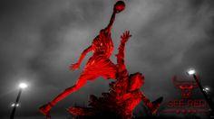 #SeeRed: Michael Jordan statue #wallpaper