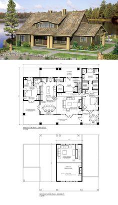 7 Modern House Plans Samples – Modern Home House Plan With Loft, Cabin House Plans, Simple House Plans, Bedroom House Plans, Dream House Plans, Modern House Plans, House Floor Plans, Open Concept Floor Plans, Small Modern Home