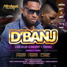 EVENT : DBANJ ANNOUNCES BIGGEST UK HEADLINE TOUR   Whatsapp / Call 2349034421467 or 2348063807769 For Lovablevibes Music Promotion   The KOKO Master himself DBanj is back as he returns to the UK for what will be his biggest UK nationwide headline tour and the most explosive and star-studded Afrobeats concert tour the country has seen this year with support from rising Nigerian Pop star Tekno and many surprise special guests to be announced shortly proudly brought to you be Afrobeat Artistry…