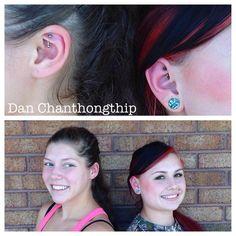 "dchanthongthip on Instagram: ""Best friend bonding over some rook piercings!"