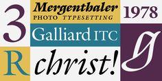 ITC Galliard® - Desktop font « MyFonts