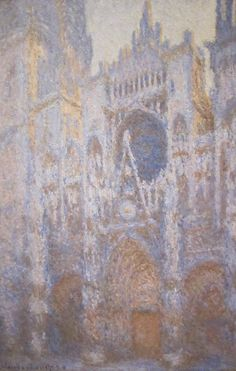 Oscar-Claude Monet (French 1840-1926) [Impressionism] Rouen Cathedral, West Facade, 1894. National Gallery of Art, Washington, D.C., USA.