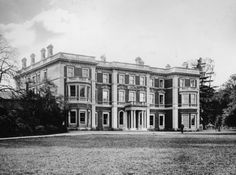 Elveden Hall before transformation into a palace. Dulip Singh standing in Front of it.