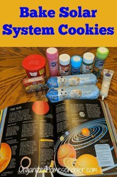 Complete your solar system unit study with solar system cookies! This solar system unit activity is perfect for kids all the way from kindergarten through middle school. Learn all about the planets and outer space with this hands on lesson you can eat. Solar System Projects For Kids, Solar System Activities, Space Activities For Kids, Solar System Crafts, Solar System Model Project, Space Projects, Science Room, Science Experiments Kids, Science Activities