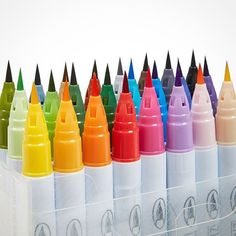 Can't get enough of these brush tip markers. @kuretakezig Zig Clean Color Brush Rainbow. #ArtSupplies