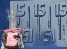 """""""15"""" LOLLIPOP QUINCEANERA CHOCOLATE CANDY MOLD PARTY FAVOR FAVORS BIRTHDAY"""