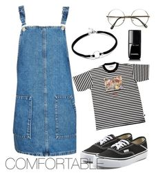 """Comfortable"" by beluuacevedo on Polyvore featuring Topshop, GCDS, Vans and Chanel"