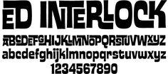 """Interlock"" - SWEET font by Ed Benguiat..."