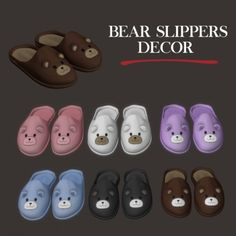 Bear Slippers by Leo Sims for The Sims 4 Sims 4 Body Mods, Sims Mods, Sims 4 Mods Clothes, Sims 4 Clothing, The Sims 4 Pc, Sims Cc, The Sims 4 Bebes, Muebles Sims 4 Cc, Bear Slippers