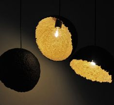 Group of Lights Set of 3 Paper Pulp Lamp shades Black and Golden Lampshades Handmade Lamps Art Lighting Pendants Ceiling Lights Paper Lamp USD) by DolcheTodolche Old Lamp Shades, Small Lamp Shades, Shabby Chic Lamp Shades, Rustic Lamp Shades, Ceiling Lamp Shades, Table Lamp Shades, Ceiling Lights, Wooden Lampshade, Lampshades