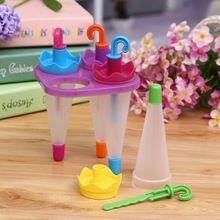 4PCS DIY Ice Cream Pop Mold Frozen Umbrella Ice-lolly Icepop Block Maker NG4S(China (Mainland))