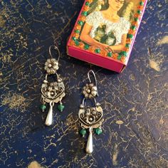 Silver Earrings with Dangles, 925 Sterling | Made in Mexico | Zinnia Folk Arts