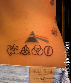 This would be awesome. I love led Zepllin ad Bryan loves pink Floyd. Dad Tattoos, Music Tattoos, Future Tattoos, Girl Tattoos, Small Tattoos, Led Zeppelin Album Covers, Led Zeppelin Albums, Get A Tattoo, Arm Tattoo