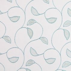 Burghley Duck Egg 59% polyester/ 22% cotton/ 19% linen 141cm (useable 132cm) 23.5cm Embroidery