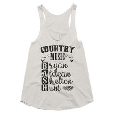 Country Music Bash, festival style, racerback tank