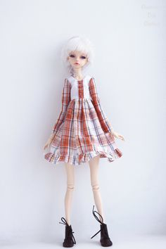 Cotton dress for bjd Doll Chateau kid k-7/k-11 body by GlamouriaDollClothes on Etsy https://www.etsy.com/listing/595547826/cotton-dress-for-bjd-doll-chateau-kid-k