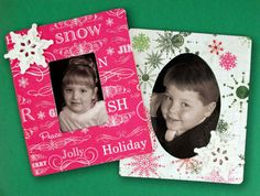 Quick Holiday Frames..... Great Gift Idea!