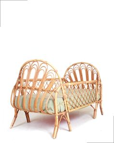 rattan crib from the 60s