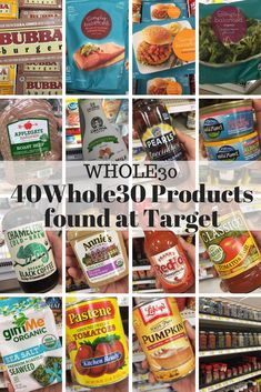 Here are forty products you can find at Target that compliant. Target carries an array of compliant products, but this list is a great start. Whole 30 Diet, Paleo Whole 30, Whole 30 Recipes, Whole 30 Costco, Whole 30 Snacks, Healthy Food List, Healthy Recipes, Healthy Foods, Clean Foods