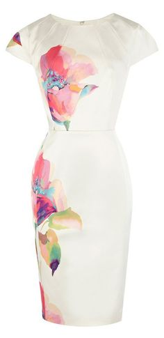 Perfect for summer! Watercolors pencil dress Women's spring summer fashion clothing for work weddings... I ordered it!  Need shoes now.