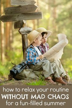 Here are some tips on how to maintain the benefits of a routine while still having fun relaxed summer days with the kids