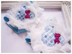 Minnie Mouse Barefoot Sandals  Aqua Blue by ZarasBabyBoutique
