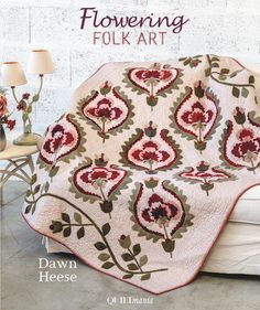 Published by Quiltmania, this book has something for everyone. 17 projects include wool applique, traditional applique and punch needle. Wool Applique, Applique Patterns, Punch Needle Patterns, Green Quilt, Book Quilt, Closet Designs, Antique Quilts, Hand Quilting, Quilting Projects