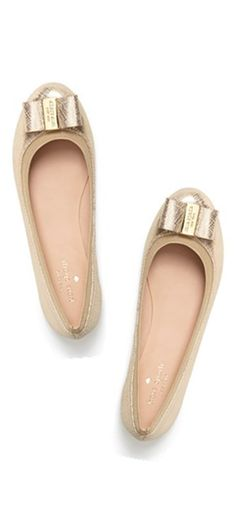 gold bow flats. i'm in love! #katespade