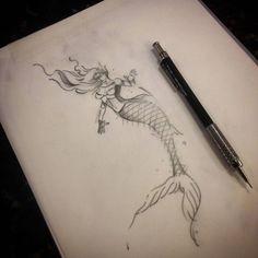 Logo menos por Caique Ataíde. @caiqueataide #studiotat2 #tat2tattoo #galeriadorock #centrosp #tattoo2me #inspirationtattoo #mermaid #mermaidtattoo #sckecthtattoo #sckecth