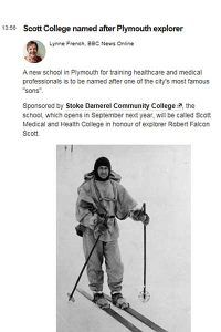 Why are we called 'Scott College'? Read more about why we named after the famous explorer Robert Falcon Scott... #medicine #doctors #school #scottcollege #health #explore #wanderlust #plymouth #brand