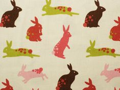 Easter Bunny Print fabric  half meter  100% by fabricsandfrills