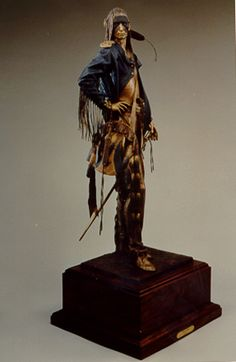 Birth of Long Soldier, Long Soldier, Retired with Honors 3 sculpture set 1988- artist Dave Mcgary