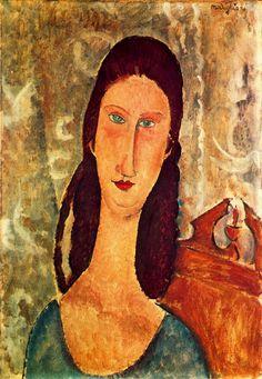 Portrait of Jeanne Hebuterne, 1919  Amedeo Modigliani