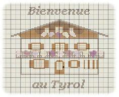 Maison - house - tyrol - point de croix - cross stitch - Blog : http://broderiemimie44.canalblog.com/