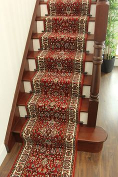 Traditional Red ANY LENGHT Narrow Stair Runner Very Long Oriental Style Hall Rug #TheRugHouse #TraditionalEuropean