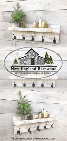 Our Farmhouse and country cottage style coat racks are sure to bring a cozy rustic feel of down home Farmhouse and Country for any room in your home. Shabby Chic Kitchen, Shabby Chic Homes, Home Decor Kitchen, Shabby Chic Decor, Modern Rustic Decor, Rustic Style, Rustic Feel, Rustic Chic, Vintage Style