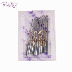 [Visit to Buy] FENGRISE Sewing Accessories 10 pcs Size 80 12 Singer Machine Needles Stainless Steel Apparel Sewing Fabric Tools Supplies Crafts #Advertisement
