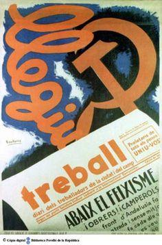 Llegiu Treball : diari dels treballadors de la ciutat i del camp :: Cartells del Pavelló de la República (Universitat de Barcelona)