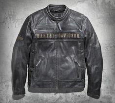 Men's Passing Link Triple Vent Leather Jacket #triplevent #leather #harleydavidson