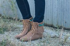 Minnetonka DIY Project: Beaded Boot Attachments by Always Rooney