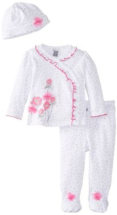 Petit Lem Baby-Girls Newborn Wild Neon Baby 3 Pieces Set, Pink Print, 6 Months Petit Lem