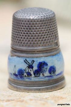 Fine Vintage Antique Sterling Silver Guillouche Enamel Dutch Sewing Thimble | eBay